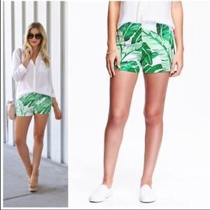 NWT Old Navy Palm Leaf Print High Rise Shorts 12